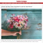 """Fleurs françaises. Le pari du """"slow flower"""" éco-responsable"""