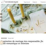 22 janvier 2021: Eco Mariages – Spécialiste des mariages eco et éthique